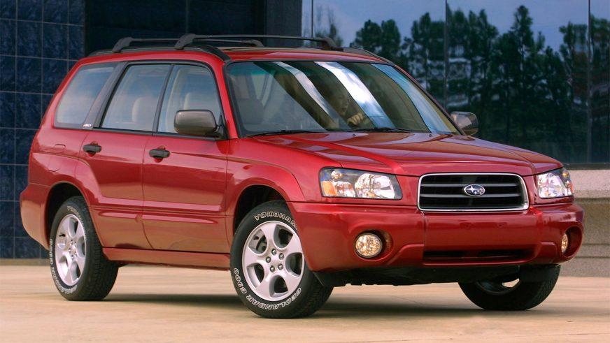 2002 год. Дизайн именно этого Forester нам кажется самым удачным. Эти автомобили продавали в Казахстане уже и официальные дилеры
