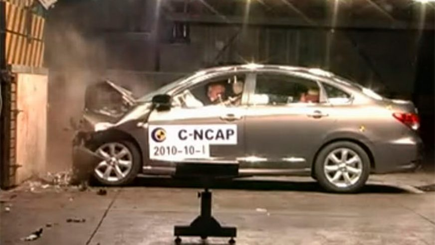 Nissan Almera - 2014 - краш-тест