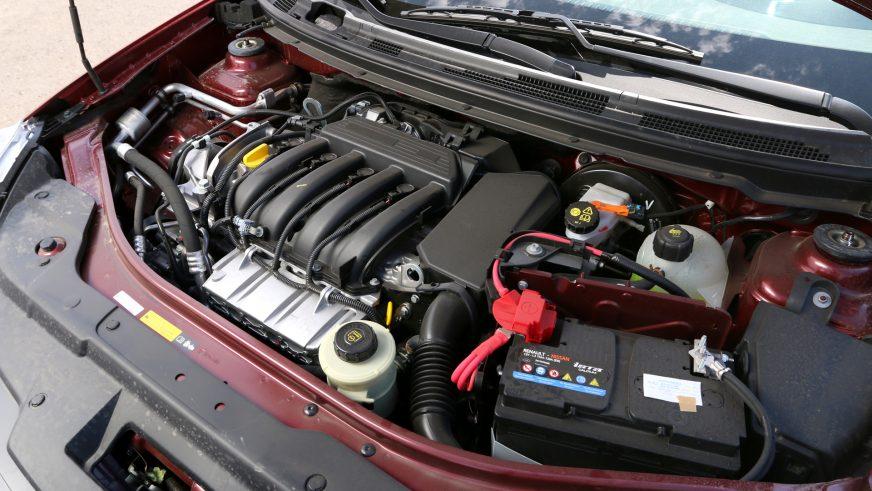 Nissan Almera - 2014 - двигатель