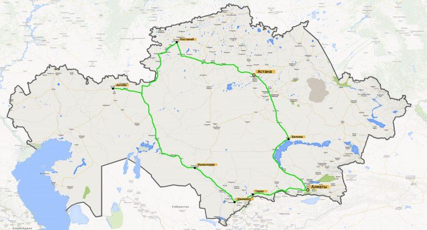 KTM 1190 Adventure R - карта нашего путешествия