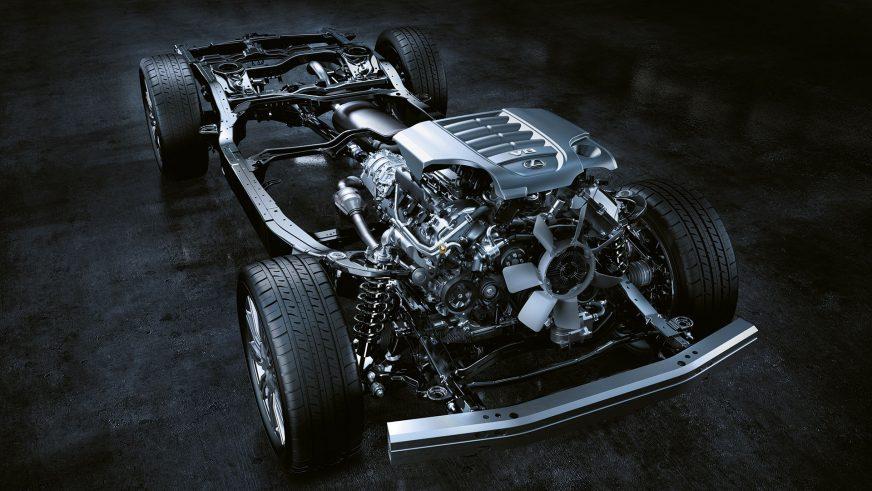 Lexus LX 570 - 2015 - двигатель