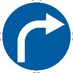 Знак 4.1.2 «Поворот направо»