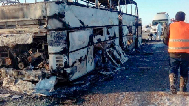 Водители автобуса, в котором погибли 52 человека, задержаны