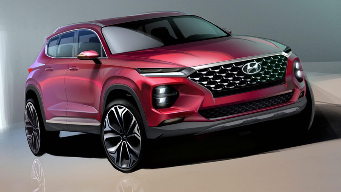 Раскрыт дизайн нового Hyundai Santa Fe