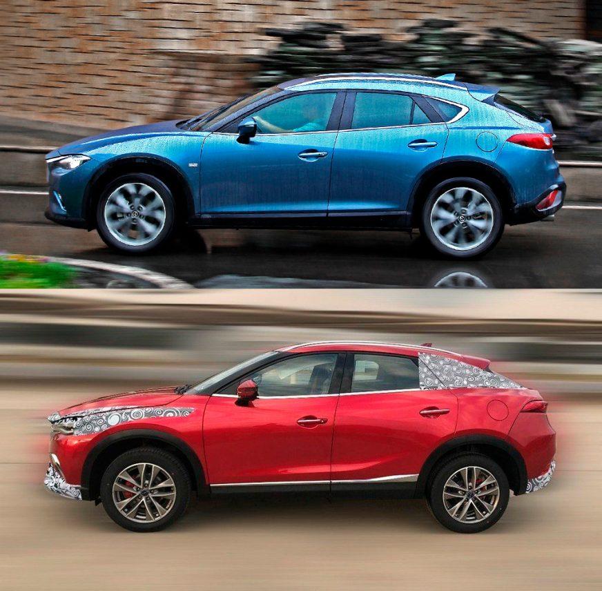 Сверху Mazda CX-4, а снизу — Traum MA501