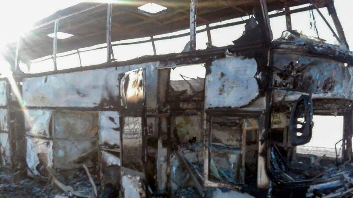 Гибель 52 человек при пожаре в автобусе. Официальная версия