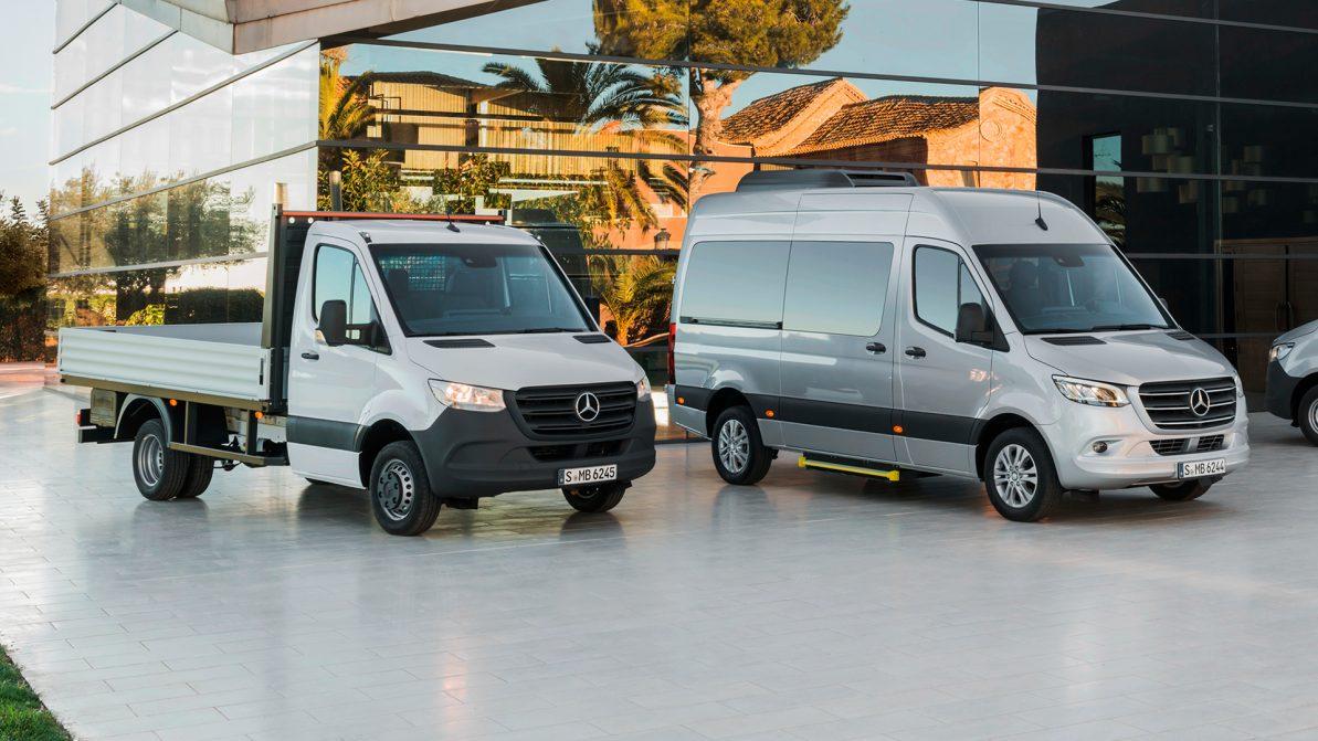 Новый Mercedes-Benz Sprinter получил три типа привода