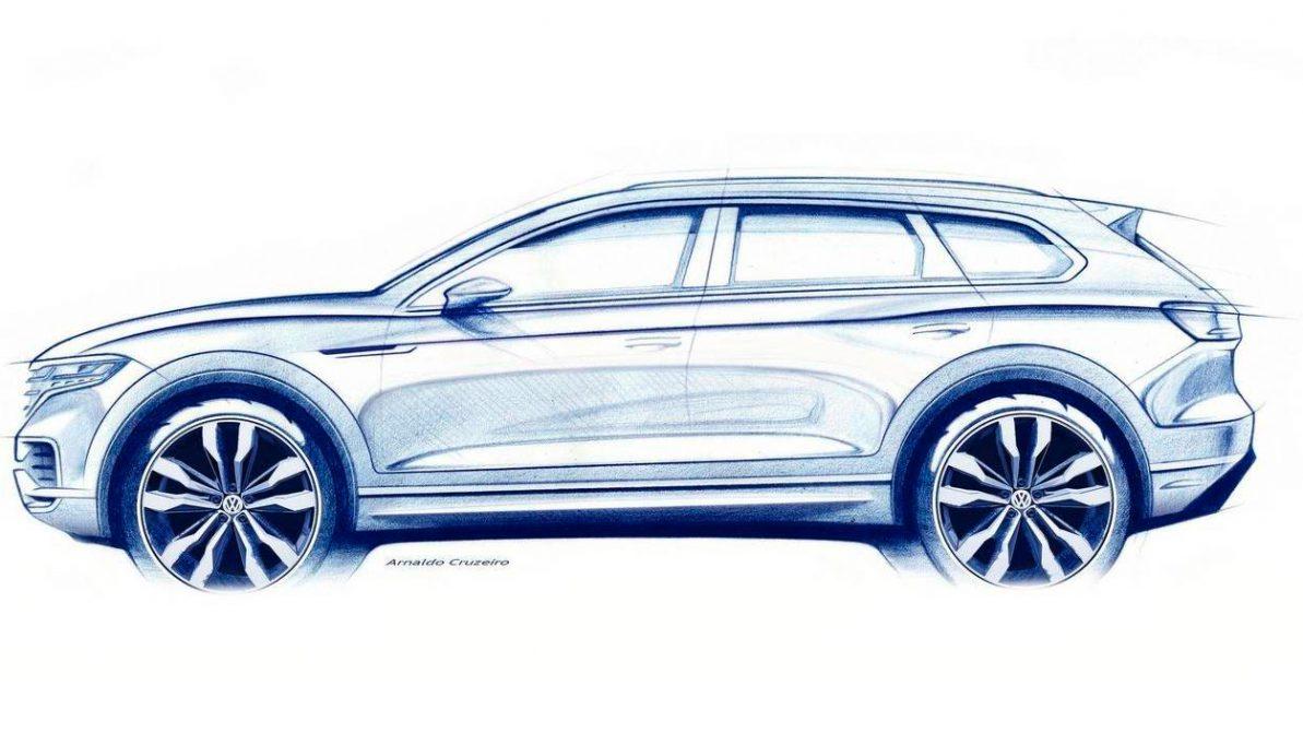 Volkswagen показал первое изображение нового Touareg