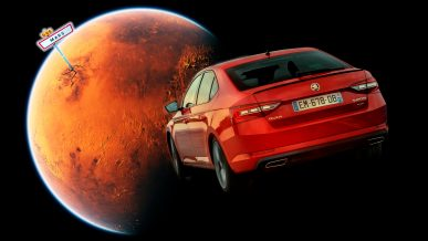 Вслед за Маском машину к Марсу отправила… Škoda
