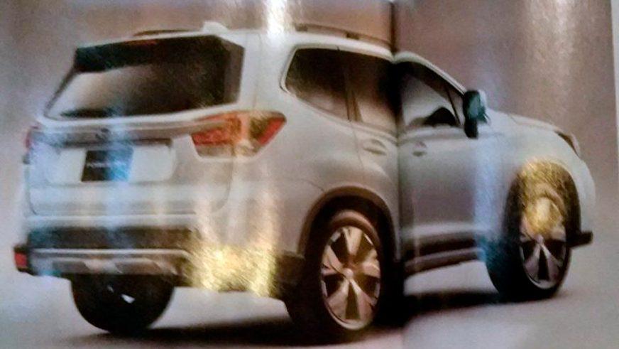Первые фотографии нового Subaru Forester попали в Сеть
