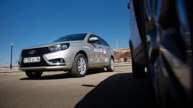 Испытания Vesta SW на дорогах Казахстана: пока замяли только диск