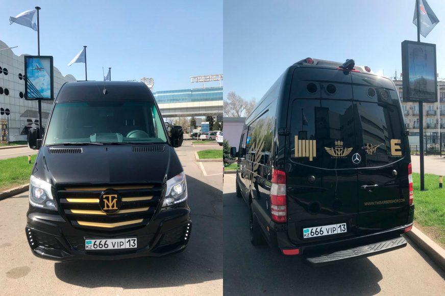 Барбершоп на колёсах появился в Алматы