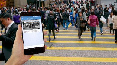 В Китае начали штрафовать пешеходов через социальные сети