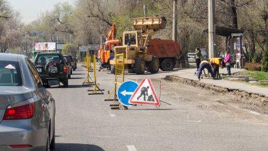 Движение по Жандосова и Тимирязева в Алматы будет затруднено с 26 апреля