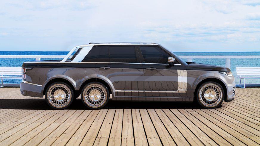 Range Rover превратили в шестиколёсный суперпикап