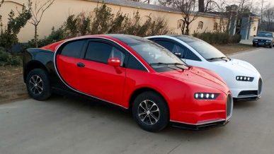 В Китае выпустили копию Bugatti Chiron