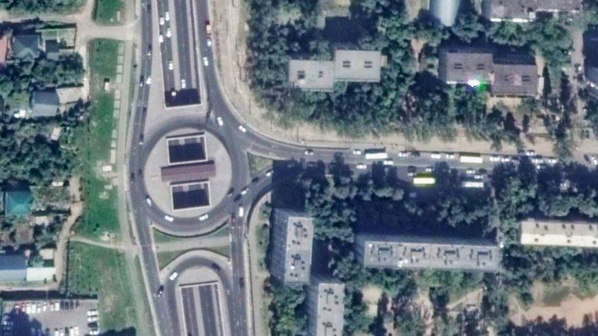 Круговое движение на пересечении улиц Саина и Торайгырова