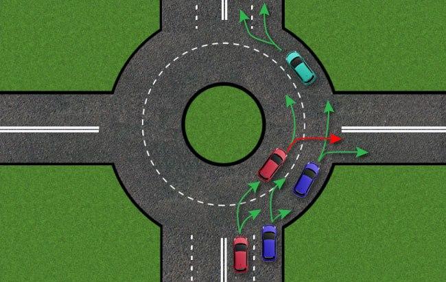 Схема того, как можно и как нельзя двигаться по кольцу