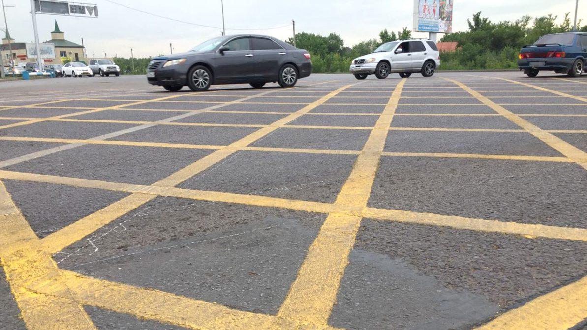 Вафельная разметка появилась на дорогах Казахстана