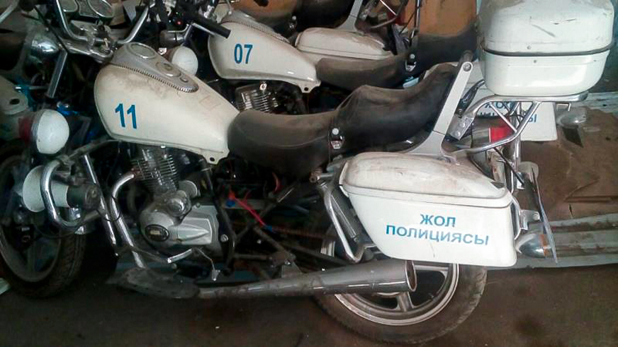 Полицейские списали в продажу свои мотоциклы