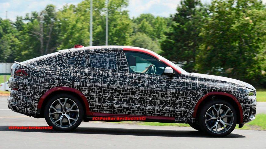 Новый BMW X6 засекли на тестах
