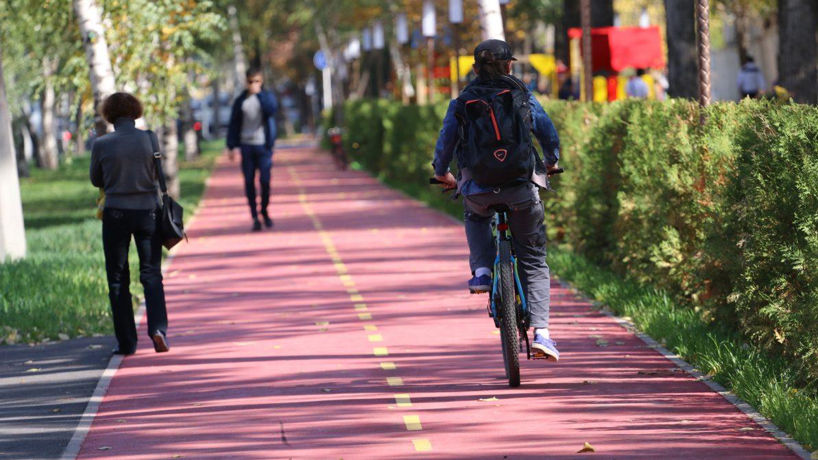 Когда пешеход может ходить по велодорожке