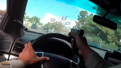 Погоня со стрельбой от первого лица попала на видео