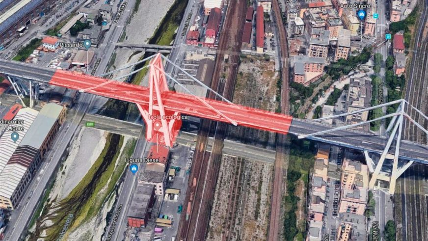 В Италии рухнул автомобильный мост