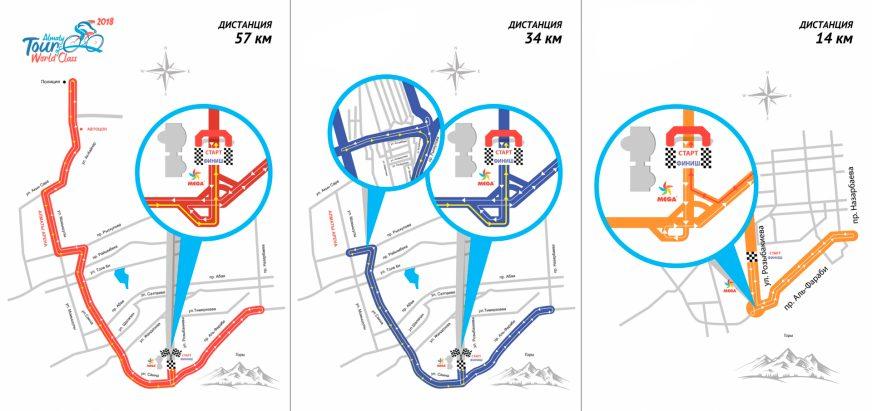 В субботу шесть улиц в Алматы перекроют из-за велогонки