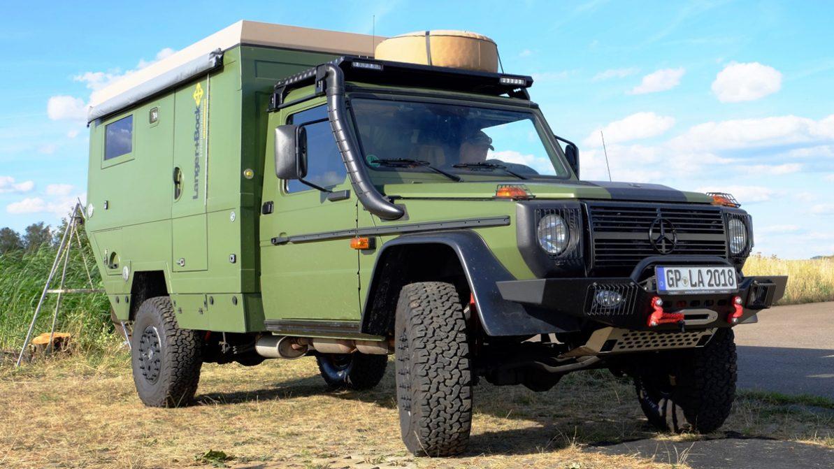 Военный Mercedes G290 превратили в гражданский дом на колёсах
