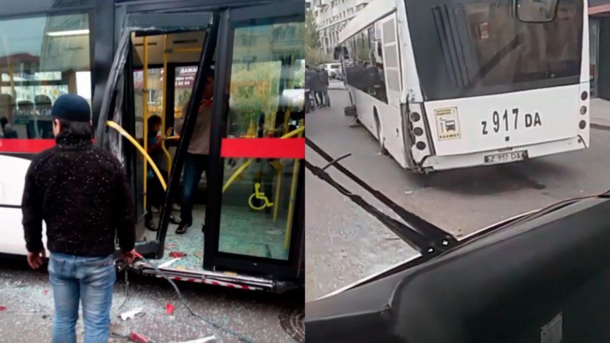 В Астане столкнулись два автобуса – четверо детей получили травмы