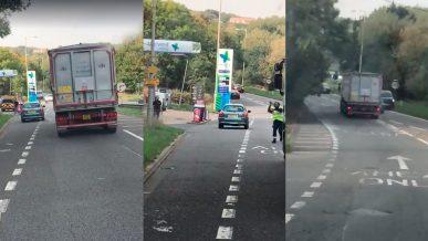 Кирпич – лучший аргумент в дорожном споре