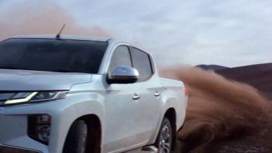 Новый Mitsubishi L200 впервые показали на видео