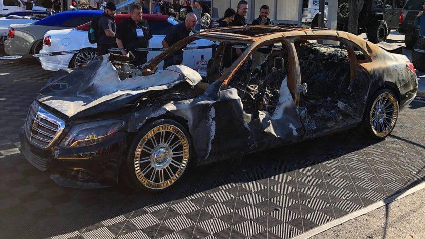 На SEMA выставили сгоревший Mercedes-Maybach S-Class