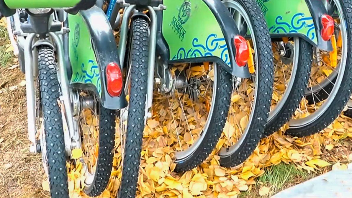 Прокатным велосипедам в Алматы наденут шипованные колёса