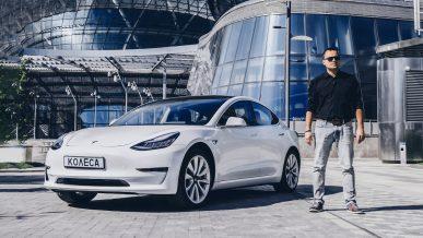 Обзор одной из первых Tesla Model 3 в Казахстане