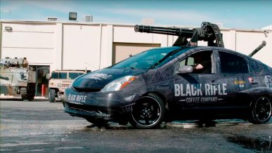 Toyota Prius с шестистволкой на крыше построили в США