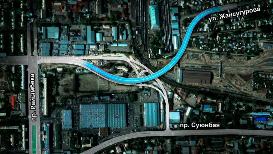 Мост на Назарбаева – Жансугурова открыли в Алматы