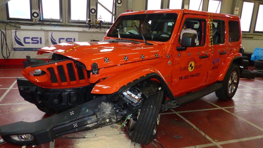 Рамный Jeep Wrangler провалил краш-тест