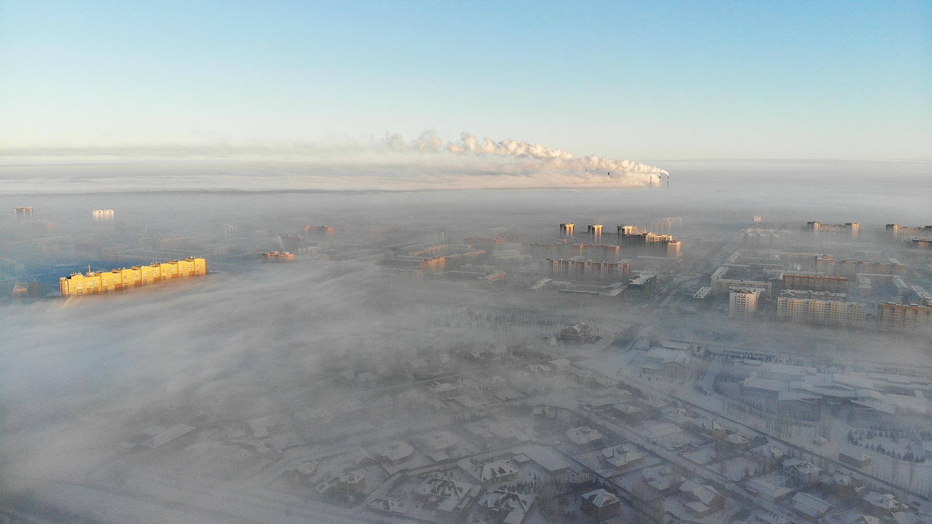 Астананың аспанын түтін торлады