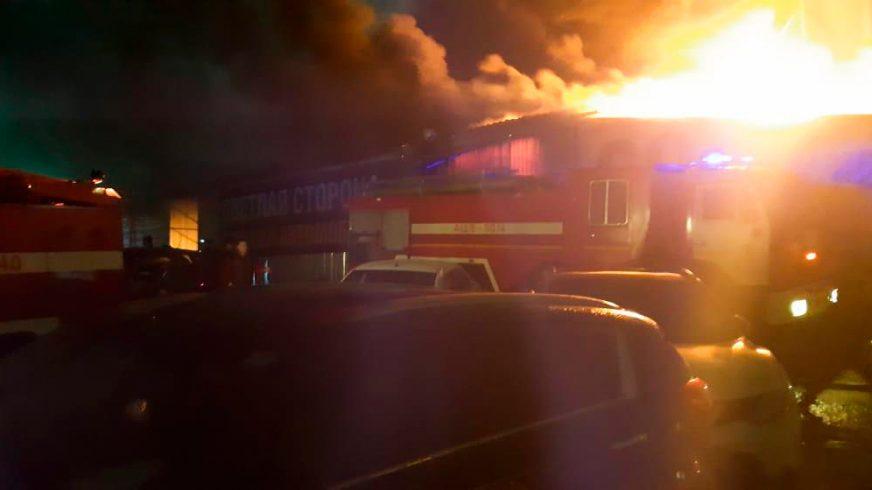 Пожар чуть не уничтожил автосалон Nissan Aster Auto