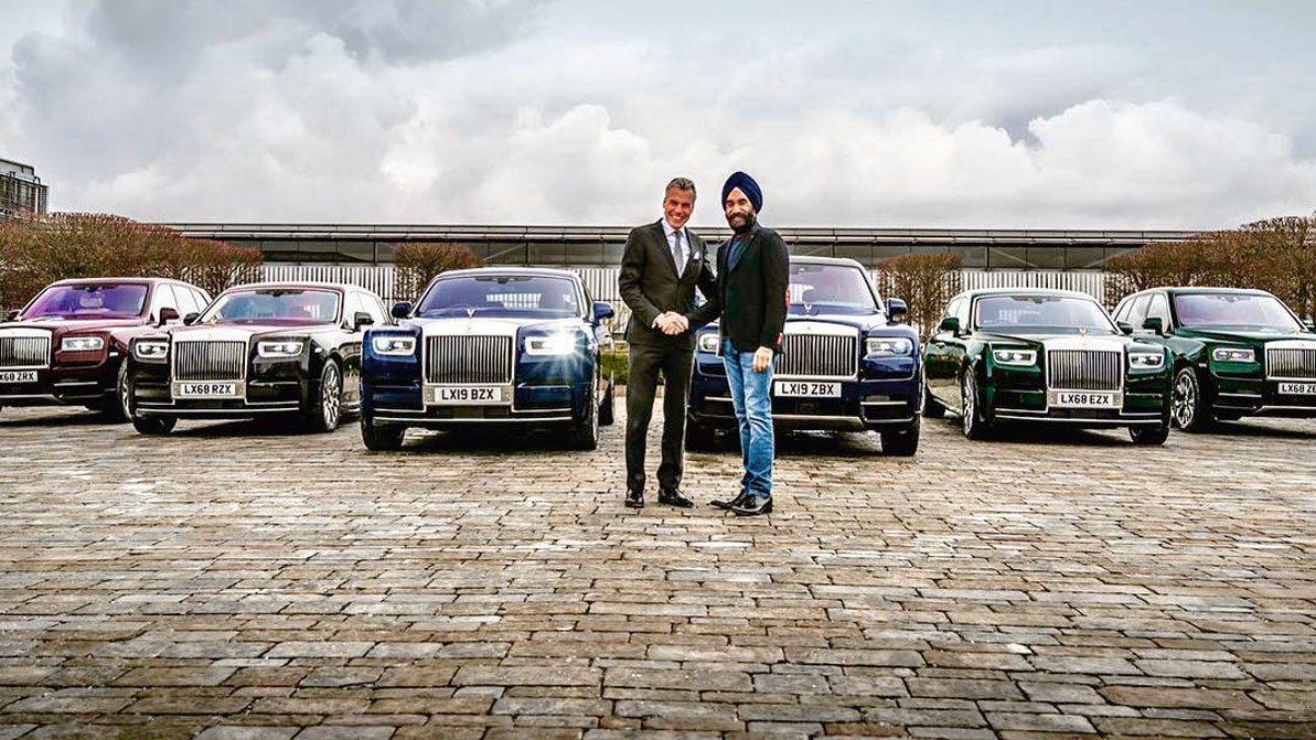 Шесть Rolls-Royce под шесть тюрбанов