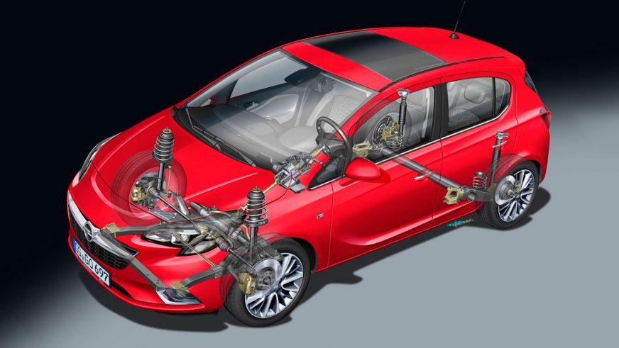 Opel Corsa (Е) - 2015 - шасси