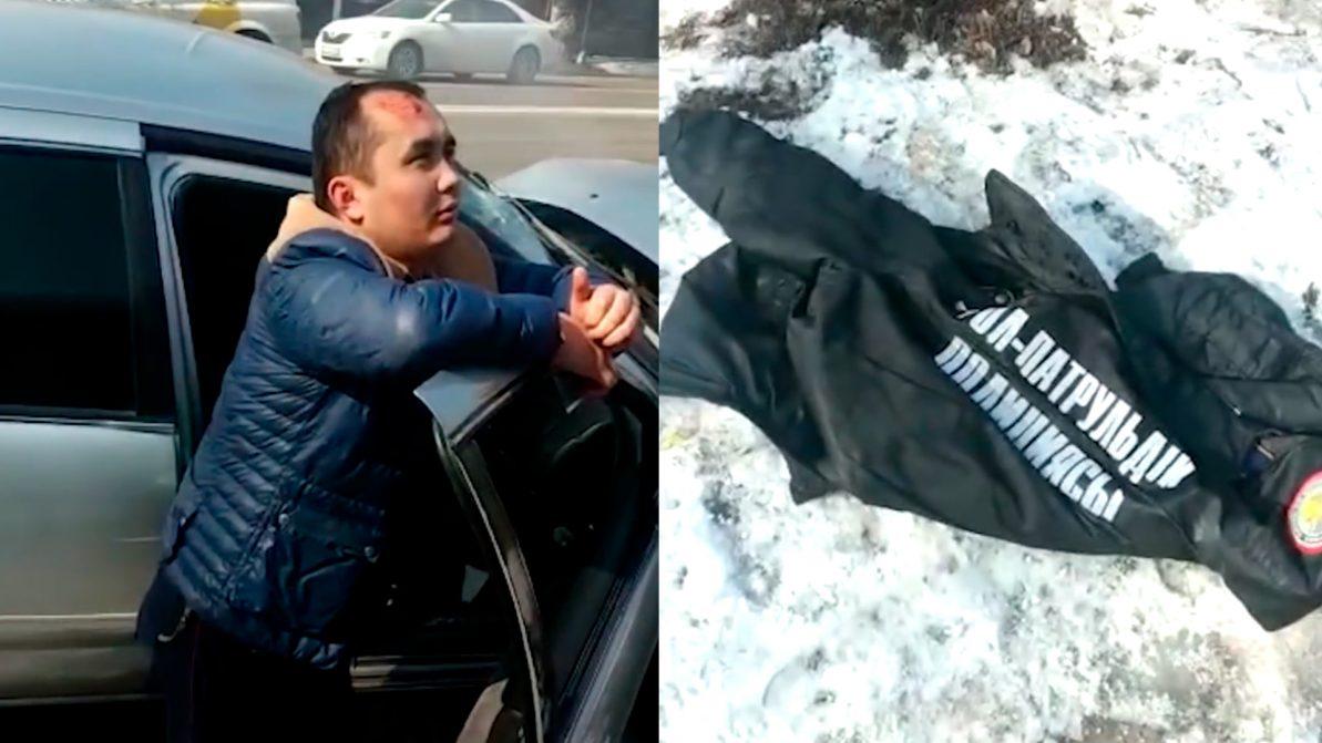 Пьяный полицейский попал в ДТП в Алматы