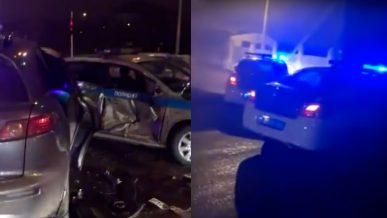 Трое полицейских попали в больницу после погони