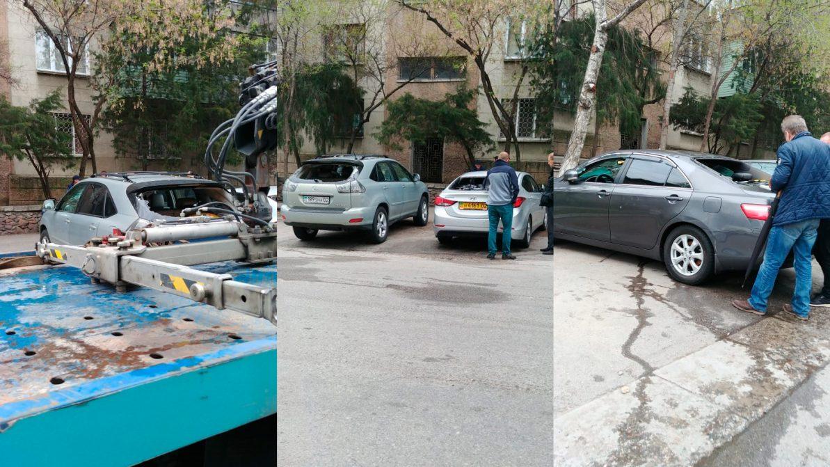 Восемь машин пострадали при прорыве теплотрассы в Алматы