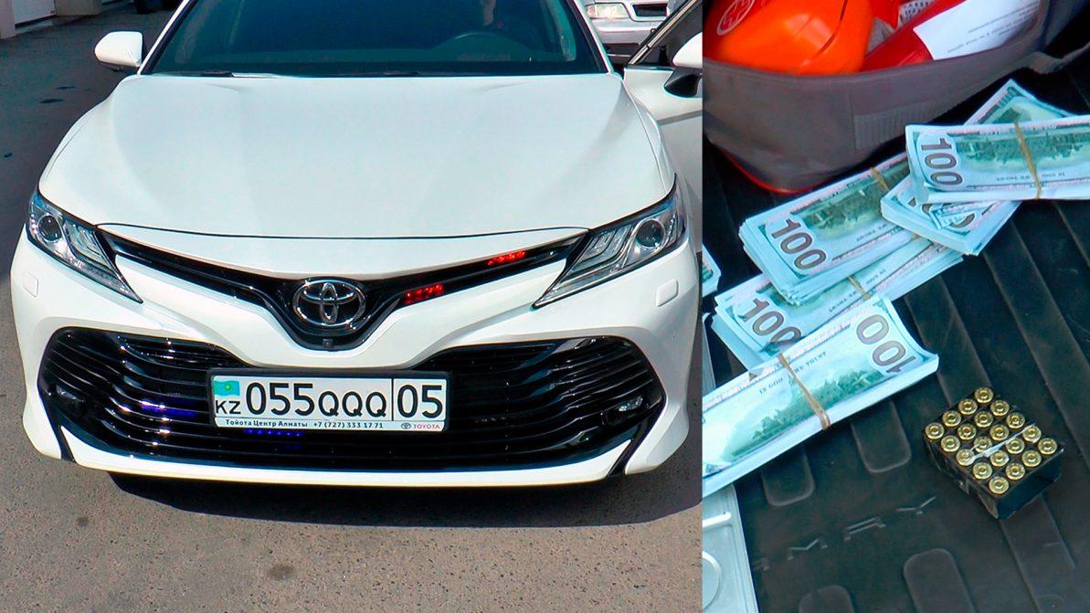 Водителя, возившего травмат и пачки долларов в Camry, оштрафовали на 25 250 тенге