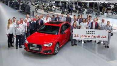 Audi A4 стукнуло 25 лет