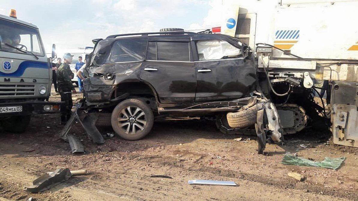 Гибель замакима Акмолинской области в автоаварии попала на видео