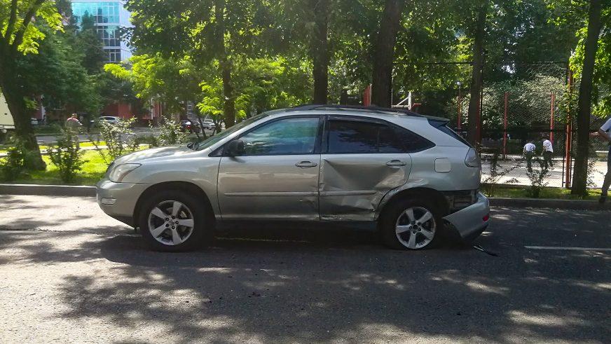 Очередная авария на Мынбаева – Гагарина